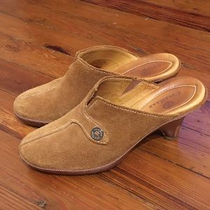 Suede and Leather Cole Haan Clogs